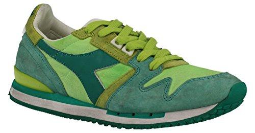 2011706100170279 Diadora Heritage Sneakers Damen Stoff Grün Grün