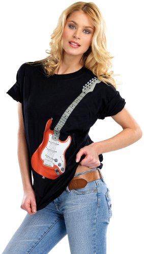 Preisvergleich Produktbild infactory Hightech-Musik-T-Shirt mit 6-saitiger E-Gitarre,  Gr. M