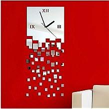 duuhl moderna de bricolaje grande del reloj de pared reloj grande de la etiqueta d pegatinas
