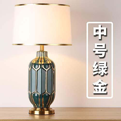 Licht Luxus postmodernen Tischlampe Gold Nordic Nacht Wohnzimmer Schlafzimmer Lampe einfaches Modell Zimmer Hotel Dekoration grünes Gold