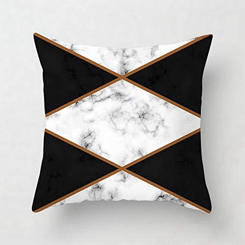 CHJTKDT Kissenbezug Rosa/Grün Marmorkissenbezug Geometrische Polyester Dekokissen Kissenbezug 45X45 Für Sofa/Stuhl/WohnzimmerDrd122-9