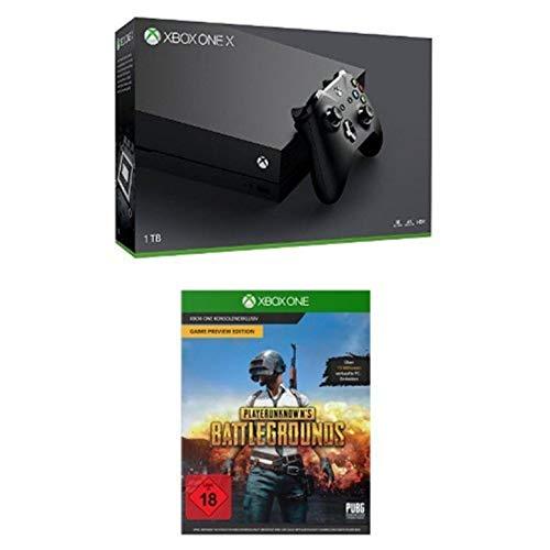 Microsoft Xbox One X Konsole [1TB , Standard Edition] + PLAYERUNKNOWN'S BATTLEGROUNDS [Xbox One]
