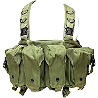 AK Cofre Chaleco Táctico Equipo Militar del Ejército AK 47 Revista Bolsa Airsoft Al Aire Libre Paintball Hunting Vest (Color : OD, Size : One Size)