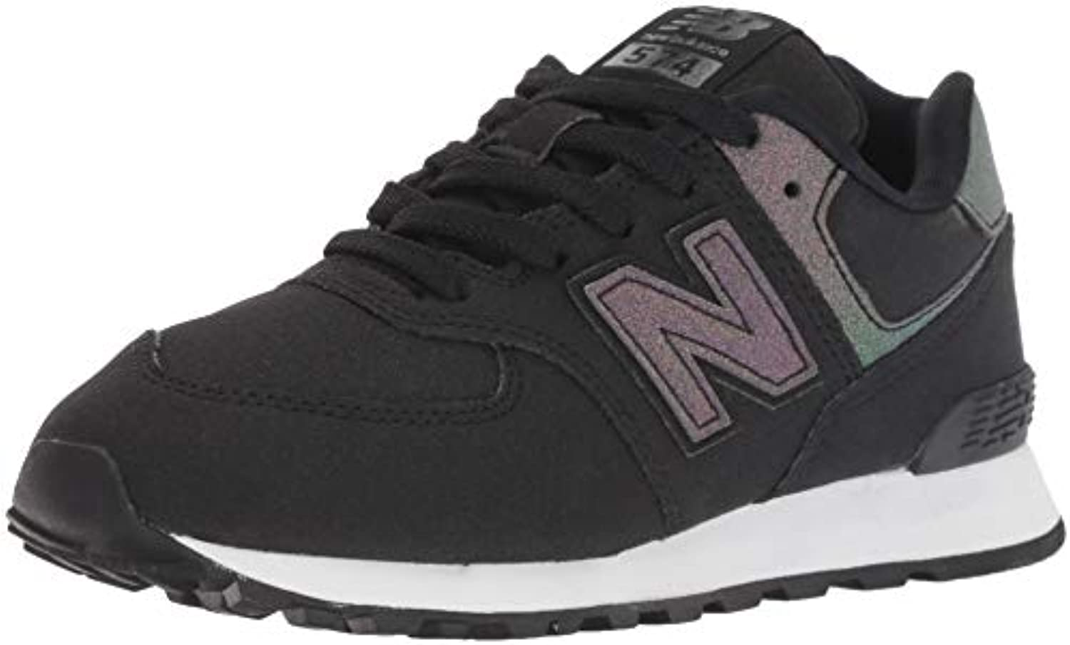 New Balance Girls' 574v1 scarpe da ginnastica, nero Multi, 2.5 2.5 2.5 W US Little Kid | Vogue