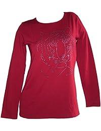 Langarmshirt von Cheer bordeaux Größe 42 und 44 Damen