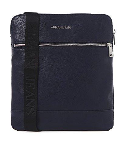 Armani Jeans Hommes Sac de vol grand Faux cuir Bleu Bleu