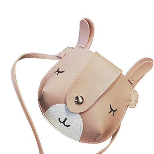 Bzline® Kids Borse Mini A Tracolla Mini Moda Fumetto Rosa 1