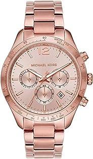 Michael Kors Layton Women's Rose Gold Dial Stainless Steel Analog Watch - MK