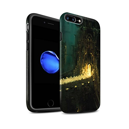 Offiziell Chris Cold Hülle / Matte Harten Stoßfest Case für Apple iPhone 7 Plus / Industrie Maschine Muster / Gefallene Erde Kollektion Dragonfel Tempel