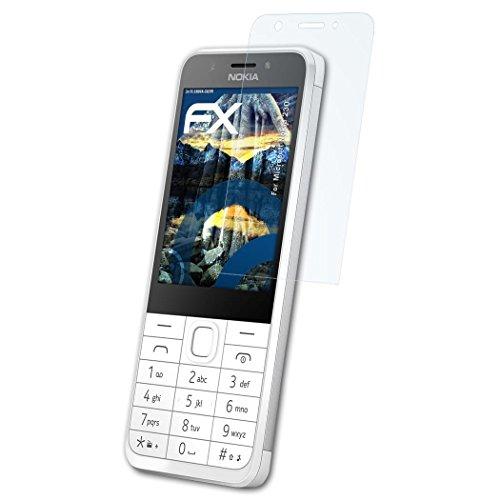 atFolix Schutzfolie kompatibel mit Microsoft Nokia 230 Panzerfolie, ultraklare & stoßdämpfende FX Folie (3X)