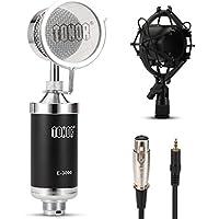 Tonor Microfono a condensatore cardioide per Registrazione Stazione radio Emittente Nero - 4 Condensatore Cardioide