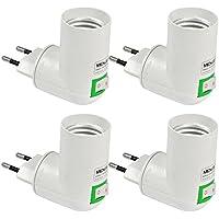 MENGS® Pack de 4 PP de calidad en E27 adaptador convertidor de enchufe de la lámpara con el material de la resistencia ABS de alta temperatura