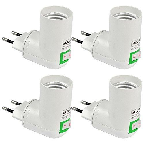 MENGS® 4 Stück Qualität PP auf E27 Lampenfassung Konverter-Adapter Mit Hohe Temperaturbeständigkeit ABS-Material