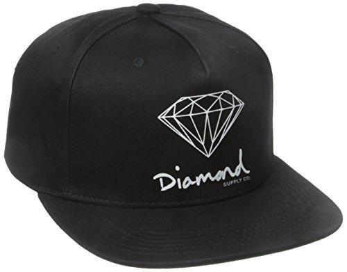 Diamond Supply Co. Herren OG Script Brilliant Snapback - Schwarz - Einheitsgröße (Diamond Snapback Supply)