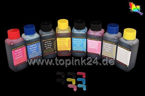 / Tinte DYE UV für Canon PIXMA Pro 100 100S & Patronen Nr. für Canon CLI-42 BCI-43 CLI42 BCI43 CLI 42 BCI 43 ()