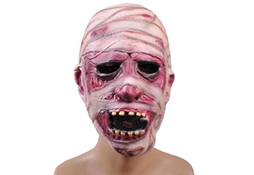 JJH-ENTER Maske Halloween Party Dekoration Requisiten Terror Zombie Kopfbedeckung Emulsion (Tier Overhead Latex Maske)