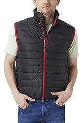 Peter England Black Regular Fit Jackets_EOW51500482_M