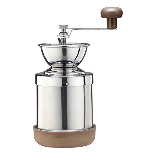 Cafe de Tiamo Stainless Steel Hand Coffee Grinder Ceramic Burr Skerton Acier Inoxydable (HG6063)