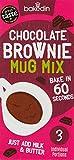 Bakedin Chocolate Mug Brownie Mix, 165g - (Pack of 3X 55g portions) - Top Quality Ingredients - Belgian Chocolate, Award Winning Flour, British Sugar - All Natural