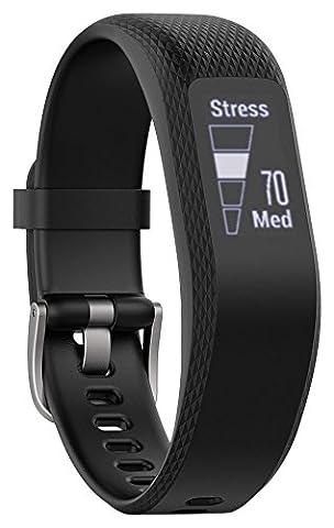 Garmin vívosmart 3 Fitness-Tracker - 24/7 Herzfrequenzmessung am Handgelenk, Smart Notifications, zahlreiche Fitness-Funktionen, Tagesziele, OLED Touchdisplay