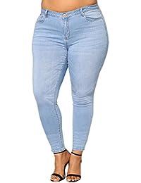 2018 Crayon Jeans, GreatestPAK Femmes et la Taille des Pantalons Jeans Slim  Denim Skinny Taille c416db32d286