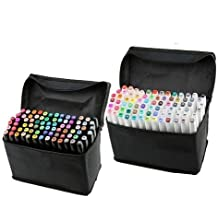 40/60/80/168Colores Art Marker Set, doble punta juego de rotuladores para dibujo con lápiz bolsa para artista arte 40-Color