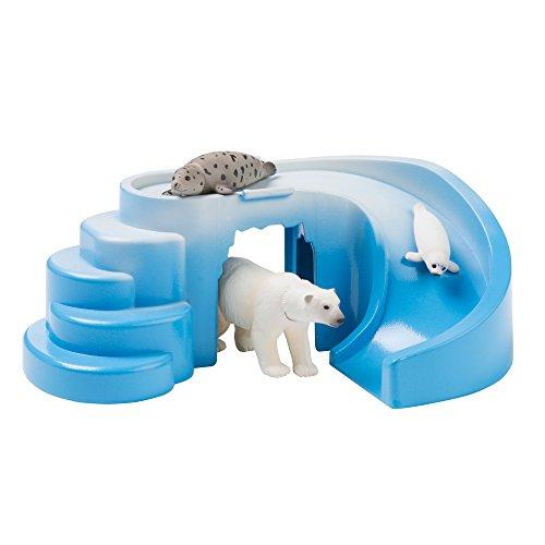 ANIA Aventura ártica focas y Oso Polar coleccionables. Set de Animales de Juguete