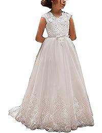 34e79fe00cc6 HotGirls Fiore ragazza abiti di pizzo per il vestito da sposa della  principessa prima comunione