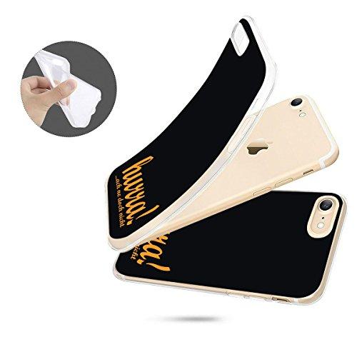 finoo   iPhone 8 Plus Weiche flexible Silikon-Handy-Hülle   Transparente TPU Cover Schale mit Motiv   Tasche Case Etui mit Ultra Slim Rundum-schutz   Cute but psycho Hurra doch nicht