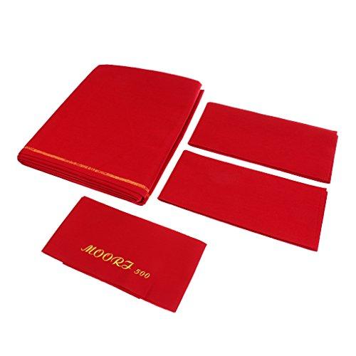perfk Hochwertiger 9ft Billardtuch (Maße 278x155cm) Pool Billiard Billard Billiardtisch Zubehör Tücher - Rot