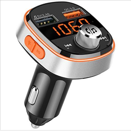 Lebron ray Auto Bluetooth FM Transmitter Dual-USB-Freisprecheinrichtung Anrufunterstützung TF-Karte Und USB-Flash-Laufwerk Mit LED-Anzeige Für iPhone Samsung Android Smartphone Bluetooth-Gerät (Kindle-flash-laufwerk)