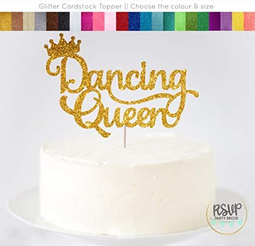 Claude6yhAly Tanzen K?nigin Cake Topper Tanzparty Cake Topper Ballerina Cake Topper Tanz Erw?gungsgrund Party Dekor Ballerina Geburtstag Party Dekorationen