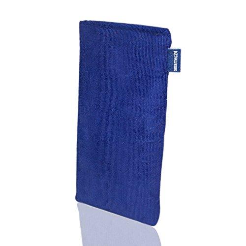 smartec24® Microcord Handytasche braun für ein iPhone 6 Plus Made in Germany. Hochwertige 100% passgenau gefertigte Handytasche (braun) blau
