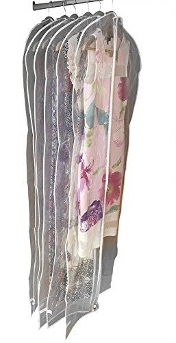 Garment cover Bags by Dryzem Premium-Set di 6custodie impermeabili per abiti, camicie, abiti e vestiti 152cm x 61cm