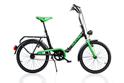 Klapprad Faltrad Dino Bikes Aurelia Folding 20 Zoll Schwarz Grün