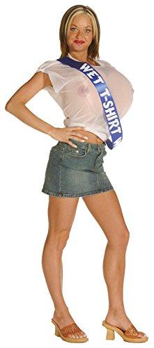 Kostüm Contest - Generique - Wet-Shirt-Contest Kostüm für Damen Einheitsgröße