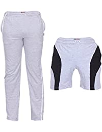 TeesTadka Men's Cotton TrackPants For Men And Shorts For Men Combo Offers Pack Of 2 - B01NBMZ6Q5