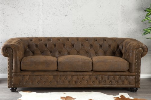 Invicta Interior 17382 Chesterfield Sofa 3-er, Antik Look - 2