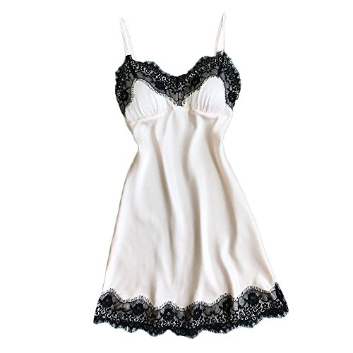 SANFASHION Damen Spitze Frauen Sexy Dessous Nachtwäsche Unterwäsche Robe Babydoll Nachtwäsche ()