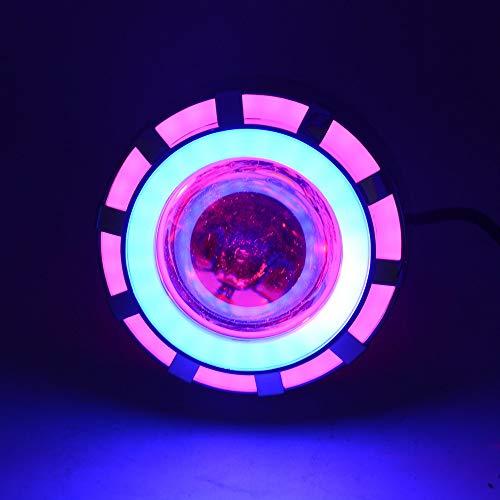Moto LED Faro Motore Spot Luci Lampadina Lampade di Guida Impermeabili con luci Angel Eyes 1200LM 30W Illuminazione Multicolore Opzionale, Accessori per Moto (Color : B)