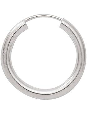 Silber 925 Sterling Silver Ohrringe - Creolen - Ø 70 mm
