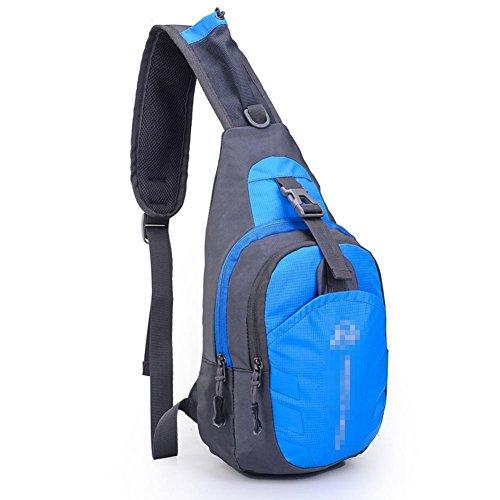 MäNner Und Frauen Wasserdichte Nylon Brust Tasche Outdoor Sport Freizeit Beutel GeldböRse Blue