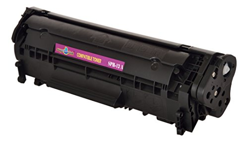 Suproprint 12A Black Cartridge Toner Compatible For HP 12A FOR HP LaserJet 1010, 1012, 1015, 1018, 1020  available at amazon for Rs.620