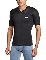 Rupa Thermocot Mens Synthetic Thermal Top (8903978492063_VOLCANO V-N H-S -80_Black)