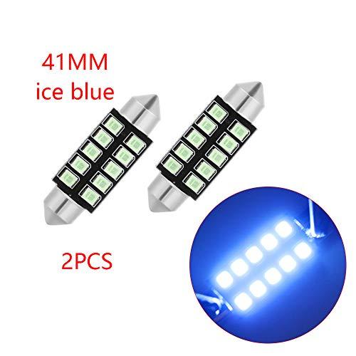 IGORW Auto Lichtkuppel LED Auto Innenbeleuchtung DC12V 2Pcs 41mm Ice Blue Für Auto Ice Dome