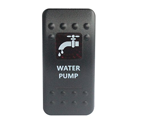bandc Wasser Pumpe Rocker Toggle Switch On/Off SPST rot LED 5 Pins für Narva ARB Carling Stil Ersatz Wasserdicht IP66 Auto Boot 12 V/24 V (Single-pole-licht-schalter)