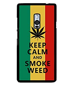 PrintVisa Relaxing Quote High Gloss Designer Back Case Cover for OnePlus 2 :: OnePlus Two :: One Plus 2