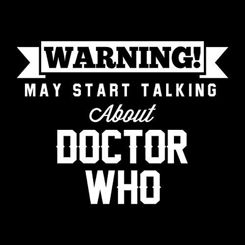 Warning May Start Talking About Doctor Who Men's Hooded Sweatshirt Black