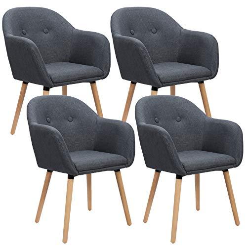 WOLTU 4 x Esszimmerstühle 4er Set Esszimmerstuhl Küchenstuhl Polsterstuhl Design Stuhl m