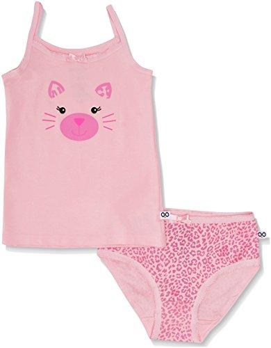 Zoocchini Mädchen Unterwäsche-Set aus Bio-Baumwolle unterhose und Unterhemd Girls 2-3 Jahre rosa pink - Kätzchen
